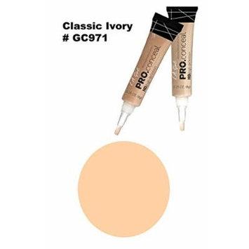 LA Girl Pro High Definition Concealer (6, GC 971 Classic Ivory)