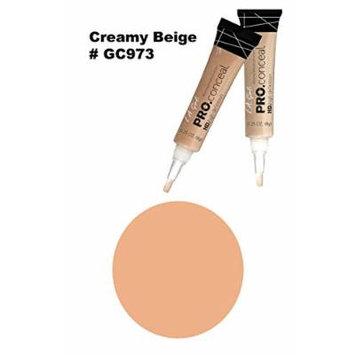LA Girl Pro High Definition Concealer (6, GC 973 Creamy Beige)