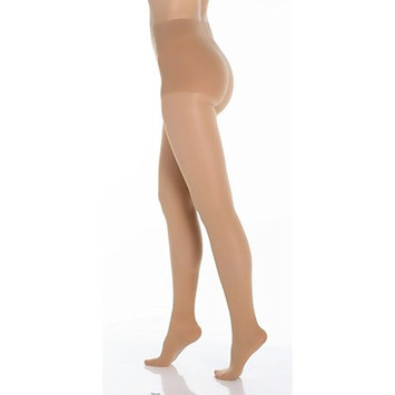 BriteLeafs Sheer Compression Pantyhose Firm Support 20-30 mmHg, Closed Toe - Small, Beige