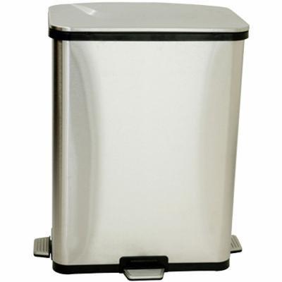 iTouchless 13-Gal. Stainless Steel Step-Sensor Trash Can, Gray - Trash + Recycling - Trash Cans
