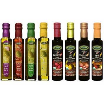 Mantova 8 pc. Set of Organic Olive Oil and Organic Balsamic Vinegar ~ 8.5 oz. ~ 9