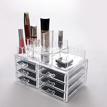 Beauty Acrylic Makeup Organizer Luxury Cosmetics Acrylic Clear Case Storage Insert Holder Box (1158)