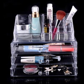 Beauty Acrylic Makeup Organizer Luxury Cosmetics Acrylic Clear Case Storage Insert Holder Box (1304)