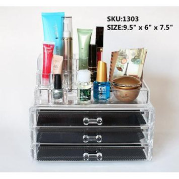 Beauty Acrylic Makeup Organizer Luxury Cosmetics Acrylic Clear Case Storage Insert Holder Box (1303)