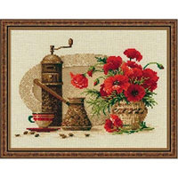 Coffee Counted Cross Stitch Kit-11.75x9.5 14 Count
