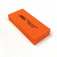 Sassi White/Orange 2 Way Mini Emery Block 100/150 Grit - 50 pieces, Nail polishing block, nail buffer, quick shine, sanding file, nail art, shiner, buffer, buffing, manicure, pedicure