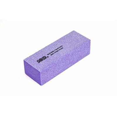 Sassi White/Purple 3 Way Emery Block 60/100/100 Grit - 50 pieces, Nail polishing block, nail buffer, quick shine, sanding file, nail art, shiner, buffer, buffing, manicure, pedicure