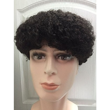 8x10 Inches All Breathable Swiss Lace Afro Hair Toupee #1B OFF Black Hair Piece