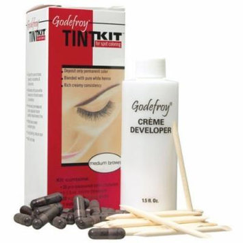Eyebrow Tint Kit Professional 20 Applications Dark Brown by Godefroy
