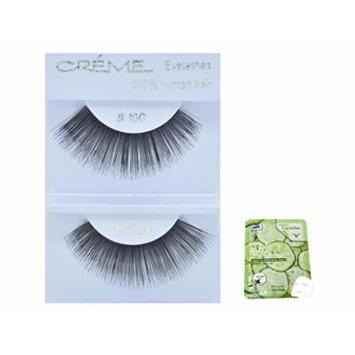 12 Pairs Creme 100% Human Hair Black Natural False Eyelashes Dozen Pack #100