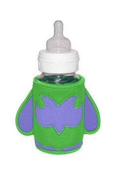KidKusion Bottle-Bud Drink Koozie, Green Owl