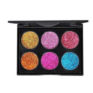 Inkach Eyeshadow Palette - Shimmer Glitter Eye-shadow Powder Makeup Palette Set Cosmetic Kit