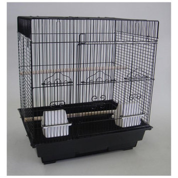 Yml Group YML Flat-Top Bird Cage with Optional Stand Black