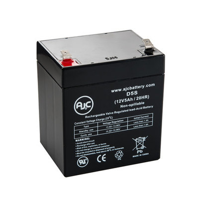 Superior GTX5L-BS 12V 5Ah Sealed Lead Acid Battery - This is an AJC Brand® Replacement