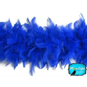 Moonlight Feather | 2 Yards - 80 Grams Royal Blue Turkey Chandelle Feather Boa Halloween, Dance, Fashion Boa