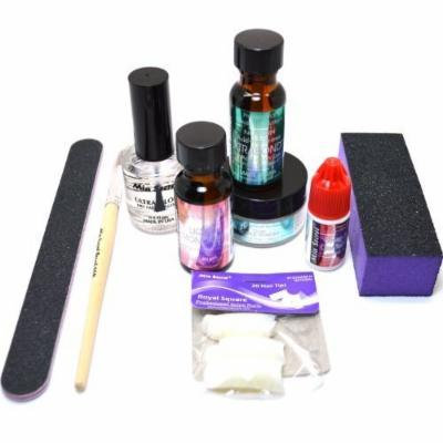 MIA SECRET PROFESSIONAL ACRYLIC NAIL LIQUID MONOMER POWDER FULL SYSTEM MIA KIT01 + FREE EARRING