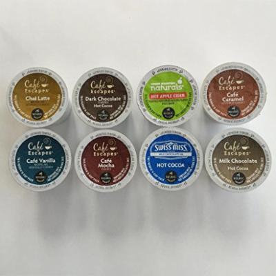 Café Escapes, Hot Chocolate, Apple Cider K-Cup Premium Variety Pack 40 Count