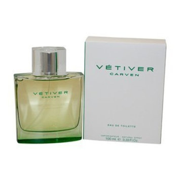 Vetiver Carven by Carven for Men. Eau De Toilette Spray 3.3 oz / 100 Ml : Beauty