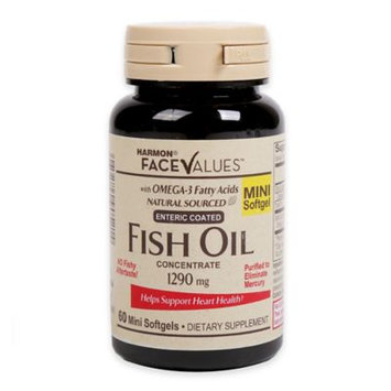 Harmon Face Values 60-Count 1000 mg Fish Oil Softgels
