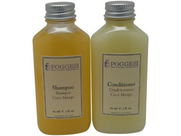 Poggesi Coco Mango Shampoo & Conditioner Lot of 4 (2 of each) 2oz Bottles