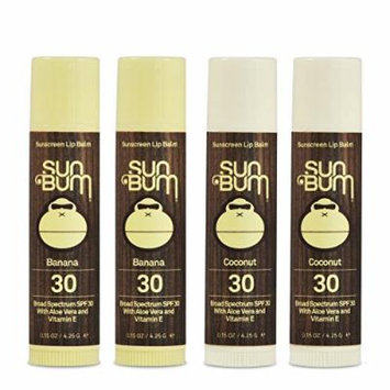 Sun Bum SPF30 Lip Balm Banana/ Coconut, 4 Pack