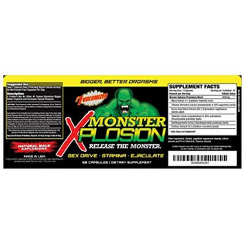 Monster Xplosion, Natural Male Explosion, 60 Capsules, Colossal Labs