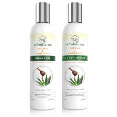 Wild Naturals Eczema & Psoriasis Restoring Shampoo & Conditioner Set, 8 oz.