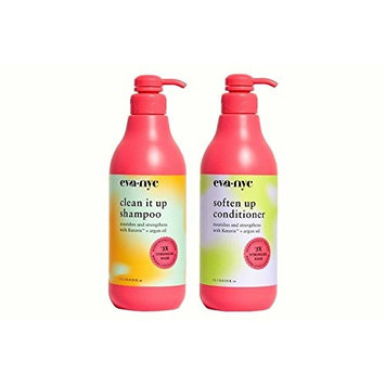 Eva NYC Clean It Up Shampoo and Soften Up Conditioner - 33.8 fl.oz [Kit]