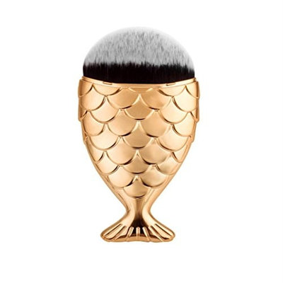 Hot Sale! Makeup Brush,Canserin 1 PC Fish Scale Makeup Brush Fishtail Bottom Brush Powder Blush Makeup Cosmetic Brushes Tool (Rose G