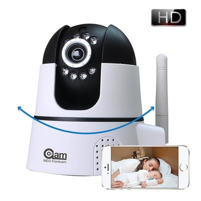 Coolcam CB22FX Digital 720P IP Video Baby Monitoring Camera WiFi Wireless Two-Way Audio Smartphone Apps Temperature & Humidity Sensor