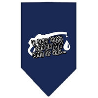 Mirage Pet Products 6654 LGNB My Kind Of Gas Screen Print Bandana Navy Blue large