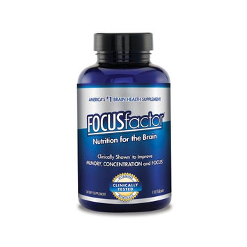 Focus Factor Dietary Supplement 150 Tablets, 2pack
