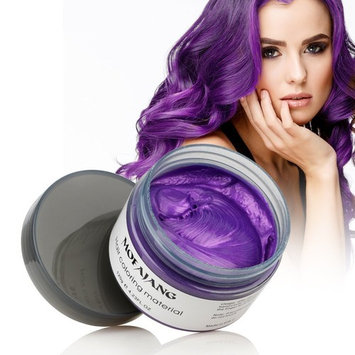 Natural Purple Hair Wax,Efly 4.23 oz-Disposable Purple Ash DIY Hairstyle Colors Hair Wax, for Party Cosplay Easy Cleaning