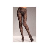 Be Wicked Leopard Print Nylon Tights BW615 Leopard