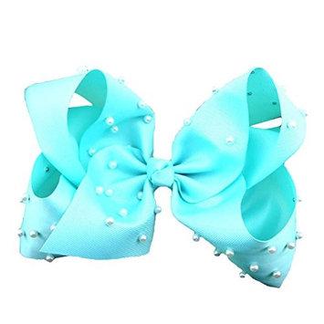 Potato001 Toddlers Baby Girl Beads Bows Hairpin Ribbon Hair Clip Headwear Hair Accessories