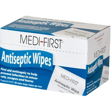 Medi-First Unitized Kit Refill Antiseptic Wipe Towelettes - MS60710 (120 Pads)