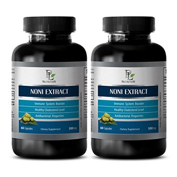 Natural weight loss - NONI EXTRACT 500 Mg - Morinda noni - 2 Bottles 120 Capsules