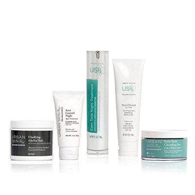 Urban Skin Rx Flawless Complexion Dark Spot and Breakout Control Package Fighting Blemishes and Fading the Appearance of Dark Marks