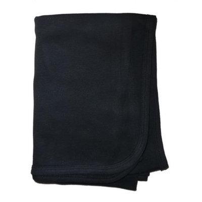 Bambini 3200BL Black Interlock Receiving Blanket