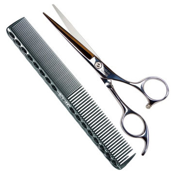Professional Barber Hair Cutting Shears / Scissors, 6 Inch Stainless Steel Barber Handmade Hair-cutting With a Comb