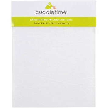 Triboro Quiilt Manufacturing Corporation Cuddletime Pack and Play Playard Sheet, White