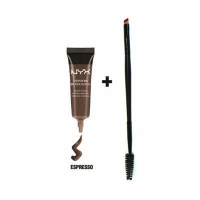 Nyx Eyebrow Gel with Pro Dual Brush(#4 ESPRESSO)