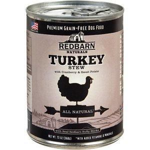 Redbarn Naturals Turkey Stew Grain-Free Canned Dog Food, 13-oz, case of 12