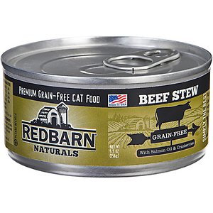 Redbarn Naturals Beef Stew Grain-Free Canned Cat Food, 5.5-oz, case of 24