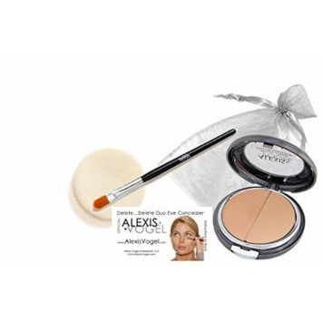 Alexis Vogel Delete Delete Kit, Under Eye Concealer Duo Compact with Angel Puff and Concealer Brush - Medium