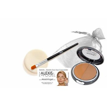 Alexis Vogel Delete Delete Kit, Under Eye Concealer Duo Compact with Angel Puff and Concealer Brush - Dark