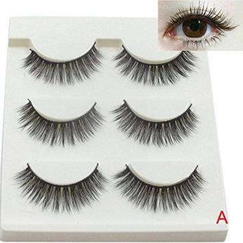 Bestpriceam 3 Pairs Long False Eyelashes Natural Black Fake Eye Lashes
