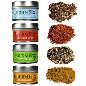 Gourmegg Seasonings - Gourmet Seasoning Gift Set (Eggs, Chicken, Seafood, BBQ) - 4 Pack