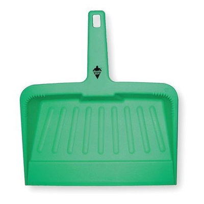 TOUGH GUY 2VEY5 Hand Held Dust Pan, Plastic,12 In W,Green