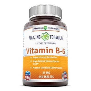 Amazing Nutrition Vitamin B-6, 25 Mg 250 Tabs